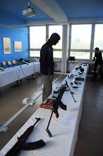 """Photo: Výstava """"Palné zbraně"""" (Jazyková učebna J2, pátek 19. říjen 2012)."""