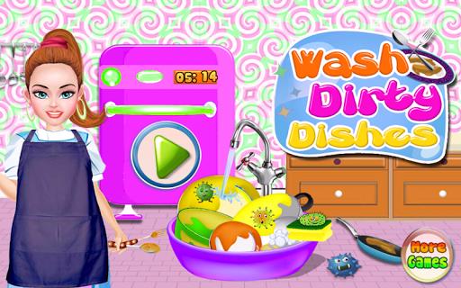 ゲームのクリーニング汚れた皿