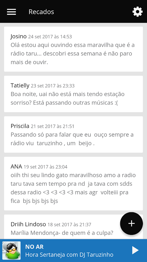 Rádio Taru- screenshot