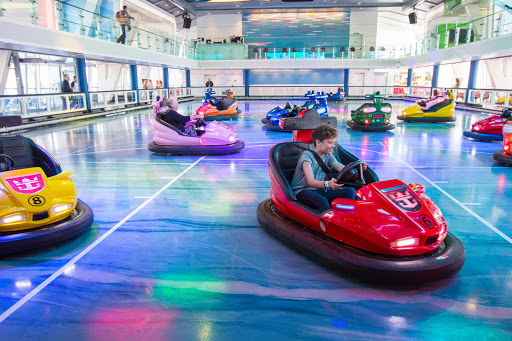 anthem-of-seas-bumper-cars-seaplex.jpg - Take a bumper car for a spin in the SeaPlex aboard Anthem of the Seas.
