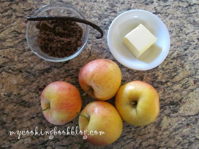Млечна грис халва с ябълки