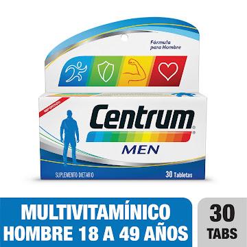 **Centrum Men Tableta   Frasco x 30 Tab. Multivitaminico