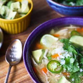 Mexican Chicken Soup {Caldo de Pollo}.
