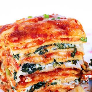 Spinach Artichoke Dip Lasagna.