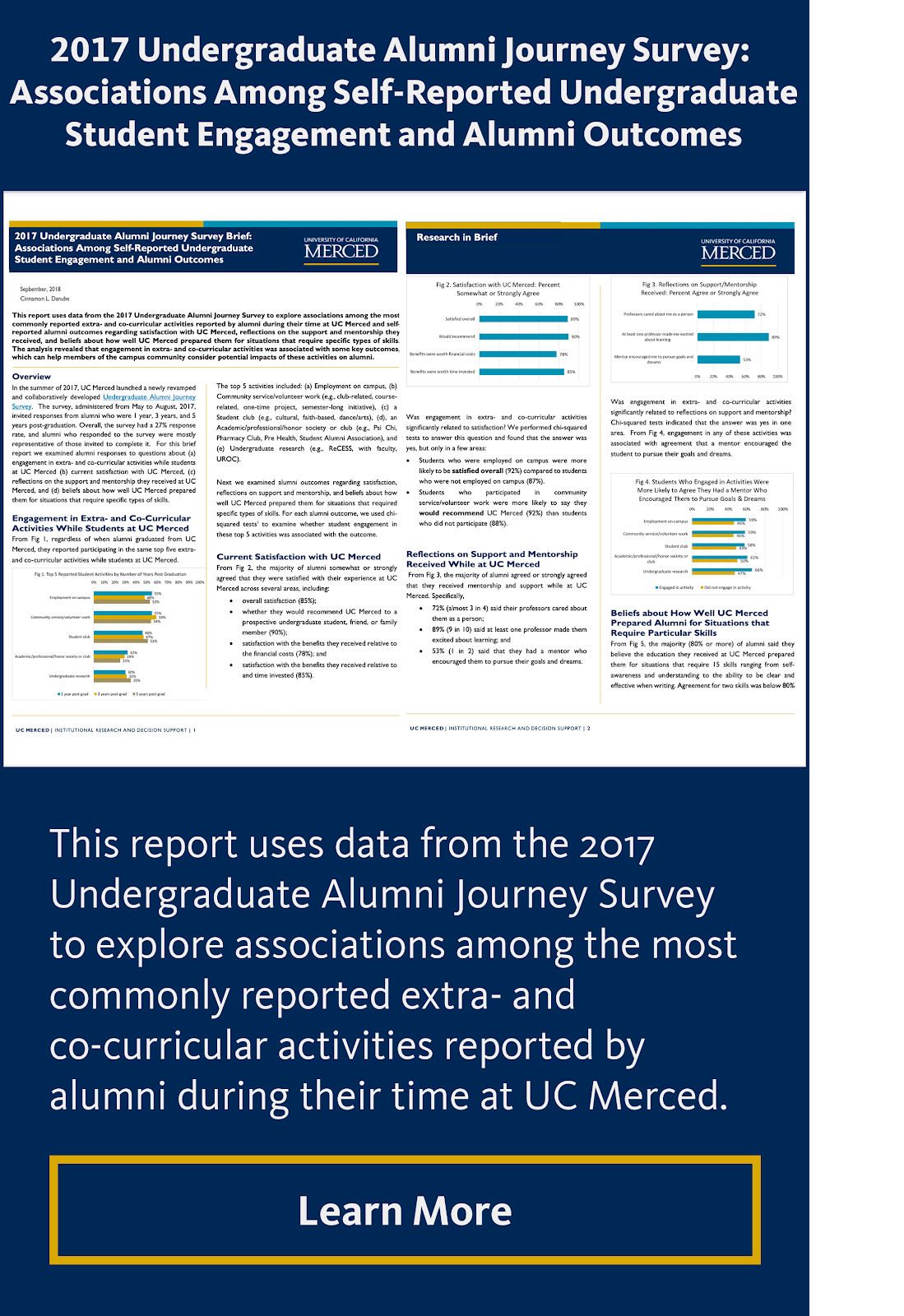 2017 Undergraduate Alumni Journey Survey: Associations Among Self-Reported Undergraduate Student Engagement and Alumni Outcomes