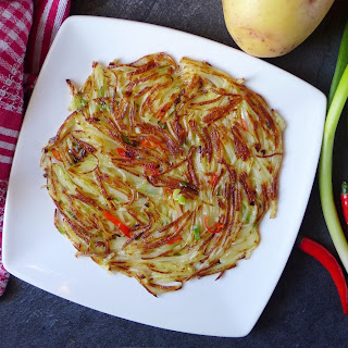 Spicy Chinese potato rösti (干煸洋芋丝).