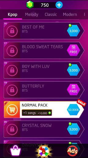 Kpop: BTS Piano Tiles 3 1.6 screenshots 2