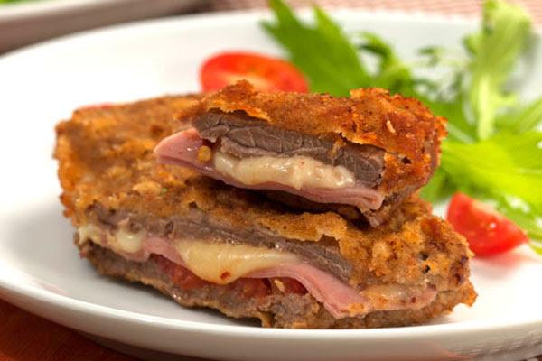 Bife Empanado e Recheado