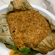 L2. Steamed Dried Shrimp Rice Wrapped in Lotus Leaf 蝦乾荷葉飯