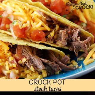 Steak Tacos {Crock Pot}.