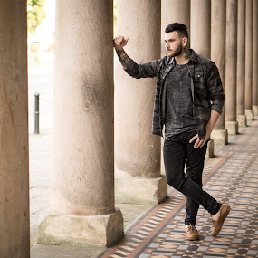 Pump Rooms by Rob James - People Portraits of Men ( model, fashion, location, male, beard, tattoo )