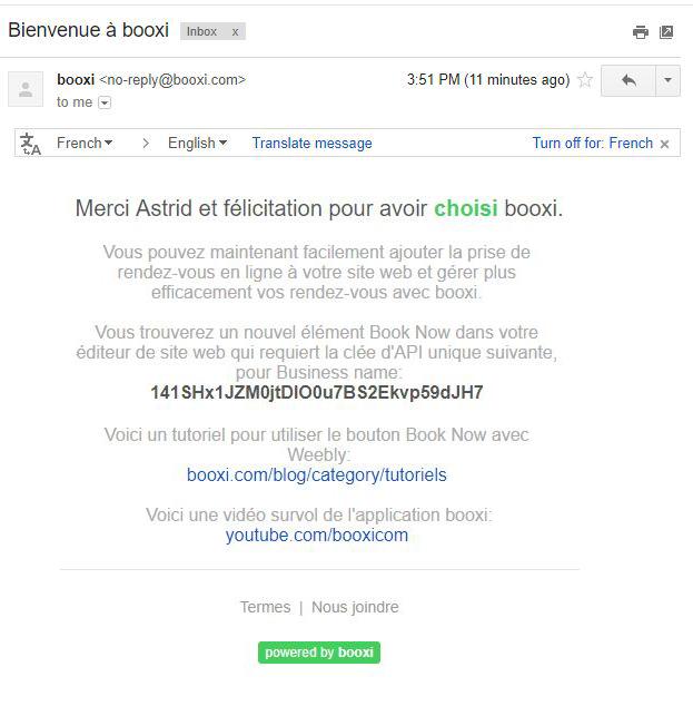 Weebly accepte la réservation en ligne