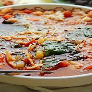 Tomato and Garbanzo Bean Minnestrone.