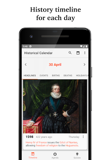 Historical Calendar screenshot 1
