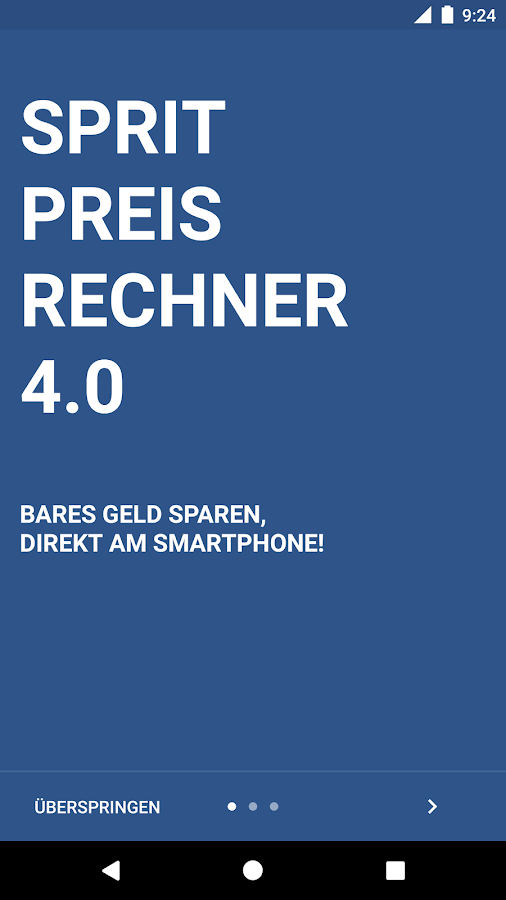 Spritpreisrechner- screenshot