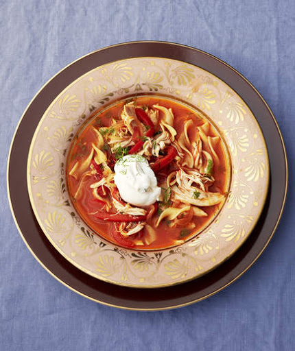 Smoky Chicken Soup With Egg Noodles