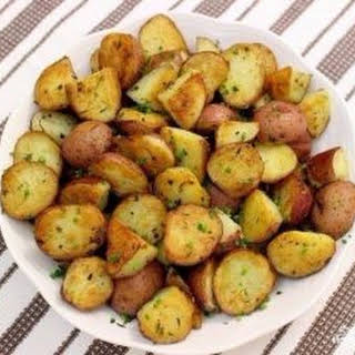 Potatoes baked in Mexican.