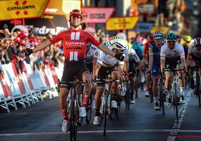 Michael Matthews vierde in 2019 in de tweede rit in de Ronde van Catalonië