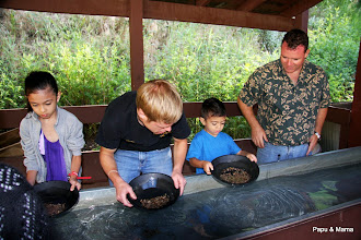 Photo: Afterwards, Matt taught the kids how to pan for gold
