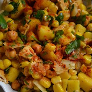 Crunchy Chickpea, Mango & Coconut Salad Recipe