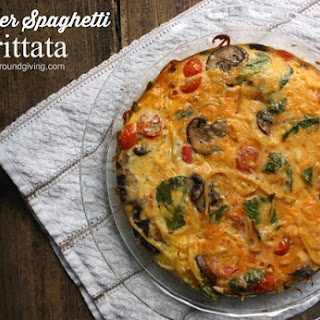 Left Over Spaghetti Frittata.