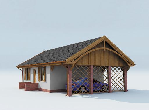 projekt Awinion dom letniskowy szkielet drewniany