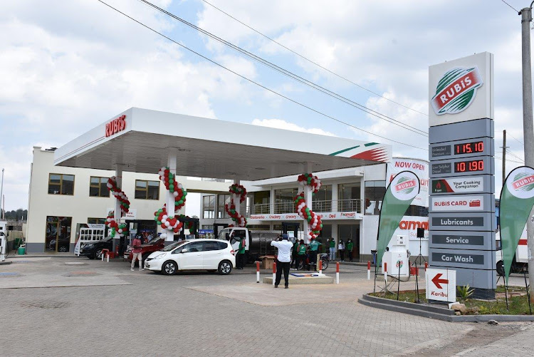 Newly rebranded Matasia petrol station/RUBIS