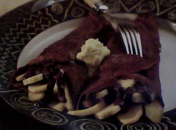 Chocolate Fruit Pancakes With Lime Butter