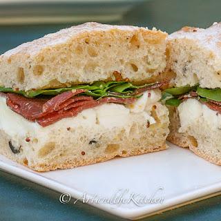 Bresaola Mozzarella Sandwich.