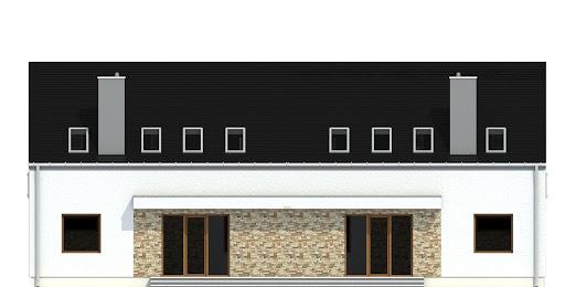 Sosnówka bez garażu bliźniak B-BL2 - Elewacja tylna