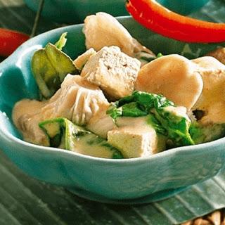 Mushroom And Tofu Curry.