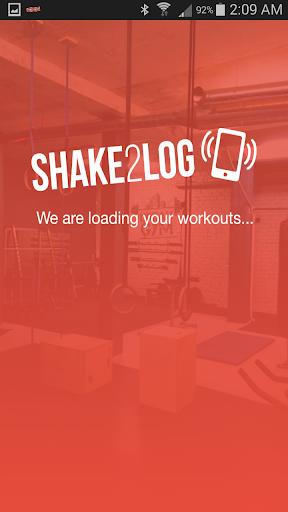 Shake2Log - Free Workout Log
