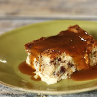 Egg Custard Bread Pudding with Nutmeg.
