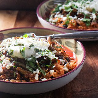 Nopalitos and Red Chile Rice Bowls.