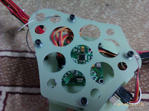 Photo: The finished tricopter.