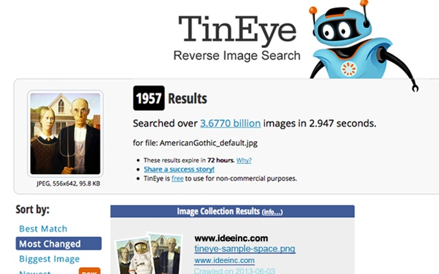 SEARCH IMAGE TINEYE TÉLÉCHARGER REVERSE