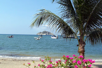Photo: Faro de Santa Marta from the beach