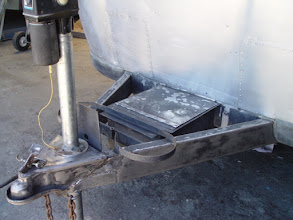 Photo: sanded tongue with welded plate on forklift hole