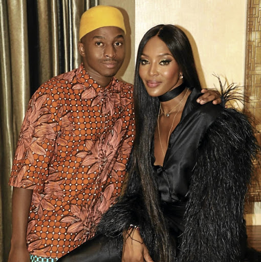 Stuurman with supermodel Naomi Campbell