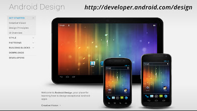 Photo: Review the Android Design guidlines at http://developer.android.com/design, and learn to think like an Android designer.