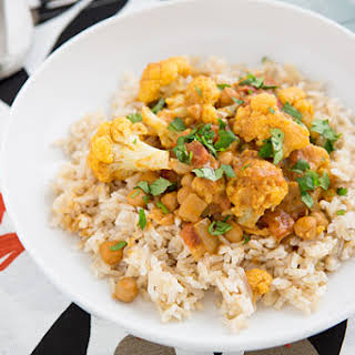 Cauliflower and Chickpea Coconut Curry.
