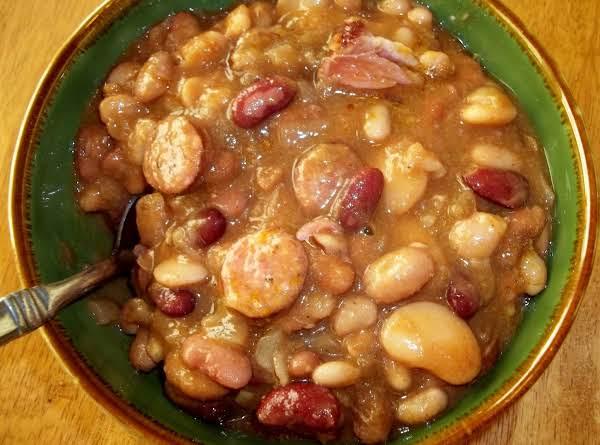 Bean Soup W. Andouille Sausage ( Crock Pot)