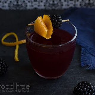Blackberry Scofflaw Cocktail.