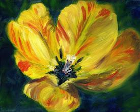 Photo: Yellow Verigated Tulip