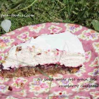 No Bake Sugar Free Raspberry Cheesecake