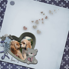 "Photo: kit ""un tesoro di ricordi"" by Petra; photo ""Puppy Love"" by daniellentowne on deviantart"