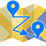 Friends on the map Icon