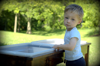 Photo: Owen's new sand/water table!
