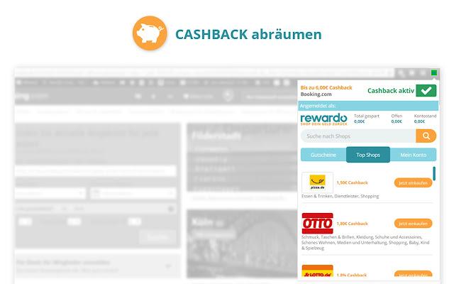 rewardo Cashback Deals Gutscheine und Rabatte