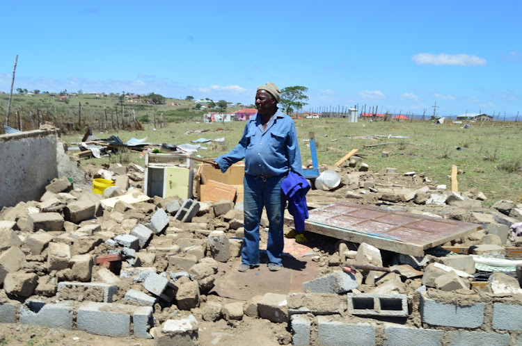 Zwelidumile Gowa is one of the many victims of the storm that hit Sawutana Village in Butterworth.